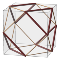 Subgroup of Oh; S4 green orange; example solid (cuboctahedron).png
