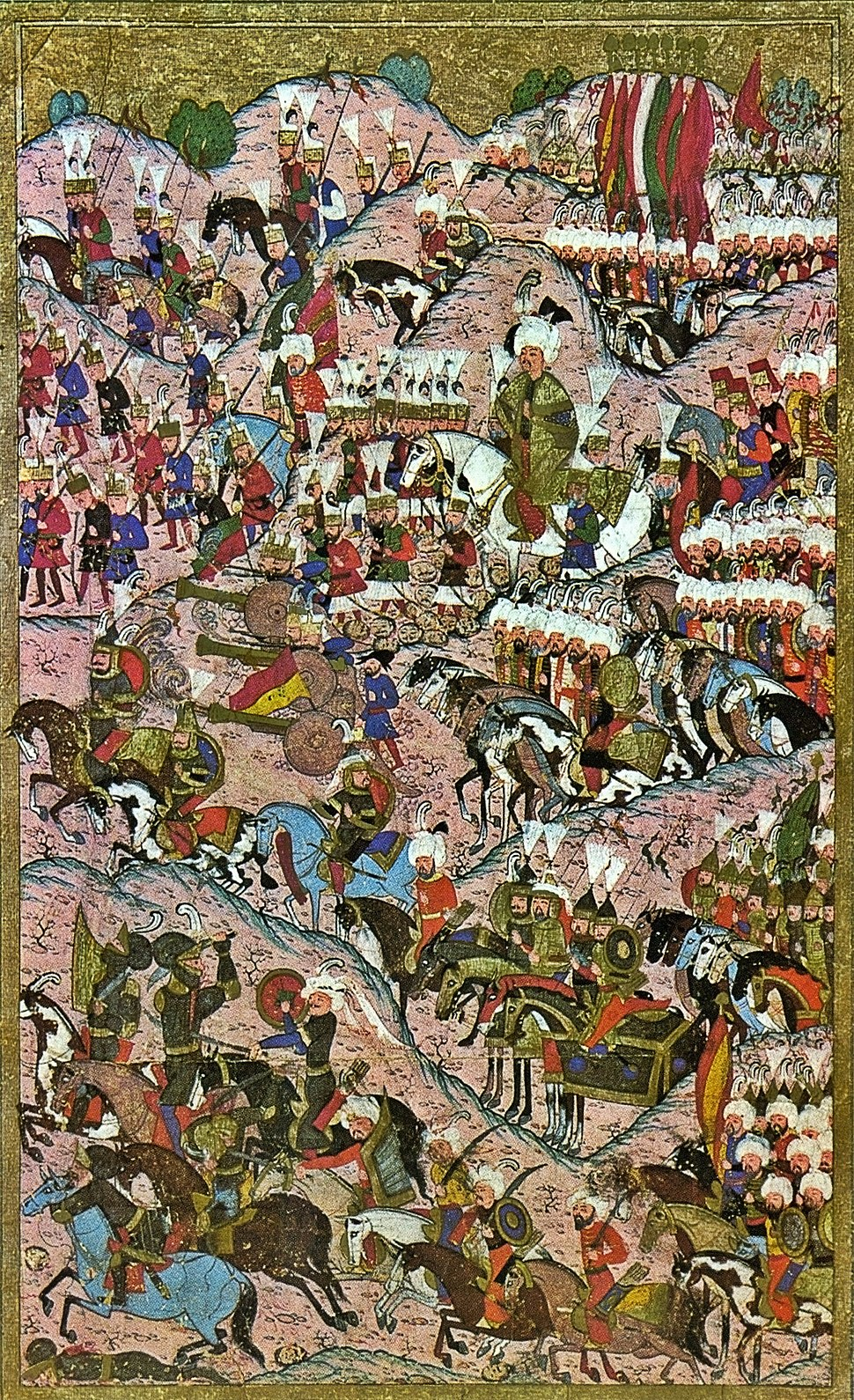Suleiman I after the victory at Mohács