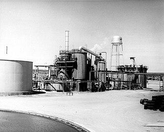 Kerr-McGee - Sulfuric acid plant at Kerr McGee Uranium mill.