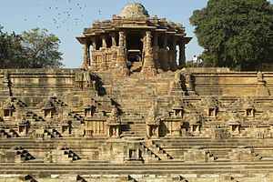 Bhima I - Sun Temple, Modhera was constructed around a year after Mahmud's invasion