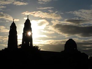Sunset at Christ The King Cathedral.JPG