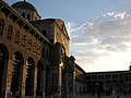 Sunset view inside Umayyad Mosque.JPG