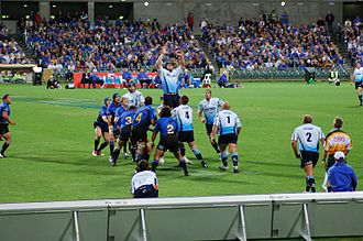 Bulls (rugby union) - The Bulls playing the Western Force in Perth, Australia in 2006.