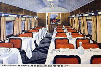 Super Chief - One of the dining cars in 1947
