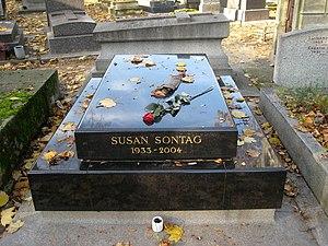 English: Susan Sontag's tomb, Montparnasse cem...