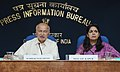 Sushil Kumar Shinde holding a press conference to present the Report Card of the Ministry of Home Affairs for the month of February, 2013, in New Delhi. The Principal Director General (M&C), Press Information Bureau.jpg