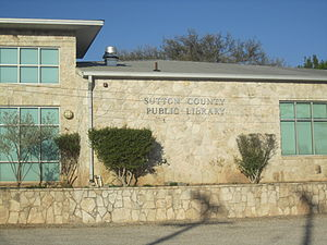 Sutton County, Texas - The Sutton County Library in Sonora