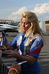Svetlana Kapanina Oripää Airshow 2013 signing autographs after show 1.JPG