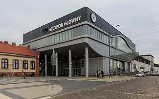 railway station in Szczecin, Poland