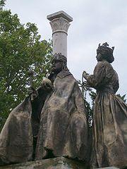 I. István és Gizella szobra Szegeden