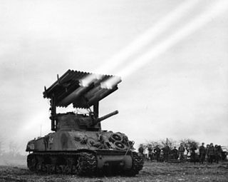 T34 Calliope Tank-mounted rocket launcher (Rocket-Artillery Tank)