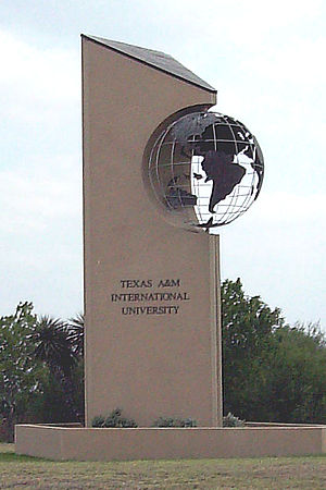Texas A&M International University - Image: TAMIU Entrance