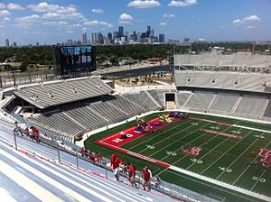 TDECU Stadium - A view of Downtown Houston from TDECU Stadium