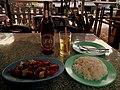 THAI MEAL CHICKEN AND CASHEW NUTS AYUTTHAYA RAILWAY STATION THAILAND JAN 2012 (6963943213).jpg
