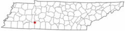 Location of Clifton, Tennessee