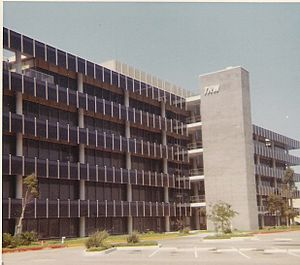 """James L. Buie - TRW research building """"R1"""" in 1967 where Buie did some of his research."""