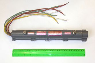 Traveling-wave tube - Ruselectronics TWT from the 1980s used in the Russian Gorizont communication satellites