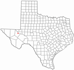 Location of Pecos, Texas