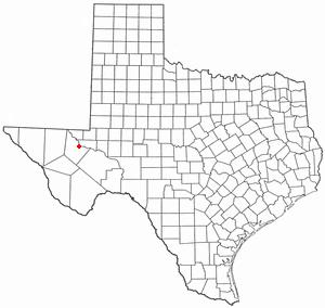 Pecos, Texas - Image: TX Map doton Pecos