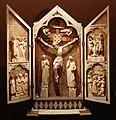 Tabernacolo con la crocifissione e scene della vita di cristo, colonia, 1300-10 ca.jpg