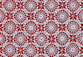 Crochet - Detail of a Portuguese crochet table-cloth, about 1970