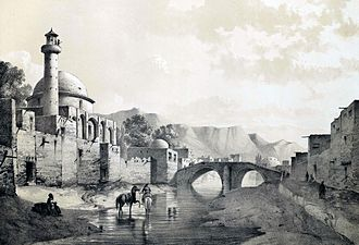 Saheb-ol-Amr Mosque - Image: Tabriz by Eugène Flandin