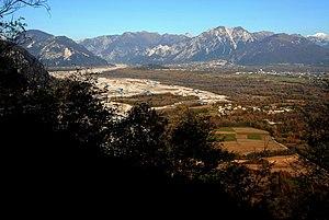 Friuli - Tagliamento river at Gemona