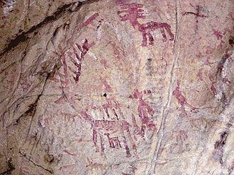 Los Alcornocales Natural Park - Cave painting of deer at Tajo de las Figuras