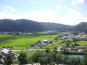 Takebe, Okayama - Rural landscape of Kawaguchi in Takebe, Okayama