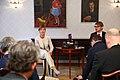 Tallinn Digital Summit press presentation by President Kersti Kaljulaid Digital innovation and Estonia's ambitions Kersti Kaljulaid and Taavi Linnamäe (36660070584).jpg