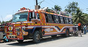 "A ""tap tap"" bus, used for public tra..."