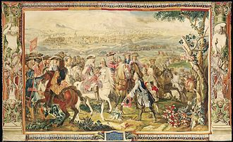 Siege of Landau (1702) - Tapestry depicts a scene from the 1702 Siege of Landau.