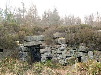 Tappoch Broch - Southern side of Tappoch Broch