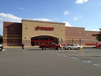 Target Corporation - The exterior of a typical Target store in Charlotte, North Carolina