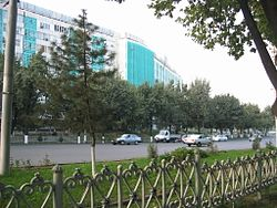 The view of the street near Darkhan