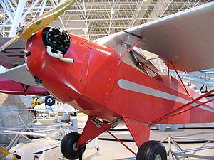 Taylor Cub - Taylor E-2 Cub on display at the Canada Aviation and Space Museum in Ottawa, Ontario