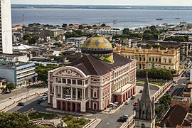 Teatro Amazonas - Vista Aérea