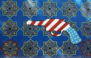Propaganda in Iran - Teheran US embassy propaganda gun