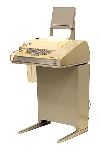 Teletype Model 33 - A Teletype Model 33 ASR teleprinter, with punched tape reader and punch, usable as a computer terminal