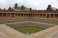 Temple tank in Bhoganandishvara group of temples at Chikkaballapur district