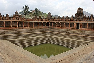Temple tank - Temple tank in Bhoga Nandeeshwara Temple at Chikkaballapur district, Karnataka.