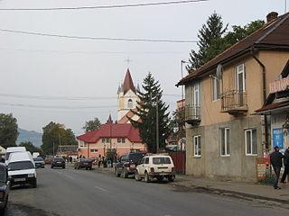 Teresva Urban-type settlement in Zakarpattia Oblast, Ukraine