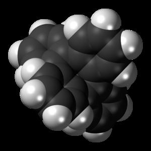 Tetraphenylene - Image: Tetraphenylene 3D spacefill