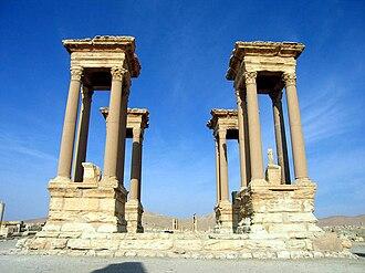 Great Colonnade at Palmyra - Image: Tetrapylon Palmyra in Syria 001