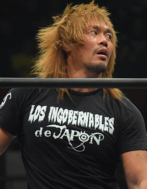 Invasion Attack 2016 - Tetsuya Naito, who won the 2016 New Japan Cup to earn a shot at the IWGP Heavyweight Championship in the main event of Invasion Attack 2016