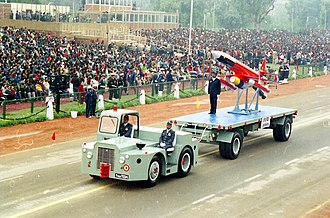DRDO Lakshya - The 'Lakshya' India's indigenously developed Unmanned Ariel Vehicle (UAV) passing through the Rajpath during the full dress rehearsal for Republic Day Parade -2004, in New Delhi on January 23, 2004