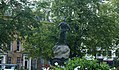The Boer War Monument, Belfast City Hall, as viewed from inside the gardens.jpg