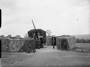 120th Heavy Anti-Aircraft Regiment, Royal Artillery - 4.5-inch gunsite of the type manned by 120th HAA Rgt.