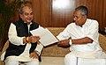 The Chief Minister of Kerala, Shri Pinarayi Vijayan meeting the Union Minister for Rural Development, Panchayati Raj, Drinking Water and Sanitation, Shri Narendra Singh Tomar, in New Delhi on July 17, 2016 (1).jpg