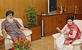 The Chief Minister of Punjab, Shri Prakash Singh Badal meeting with the Minister of State (Independent Charge) for Housing and Urban Poverty Alleviation Kumari Selja, in New Delhi on April 09, 2007.jpg
